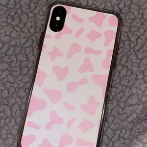 iphone x pink cow print phone case ONLY